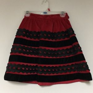 Children's Place 4 Red/Blk skirt